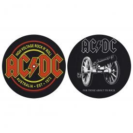 Lot de 2 Feutrines Vinyles AC/DC - High Voltage / About To Rock