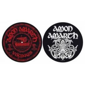 Lot de 2 Feutrines Vinyles AMON AMARTH - Vikings