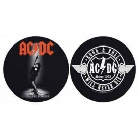 Lot de 2 Feutrines Vinyles AC/DC - Let There / Never Die