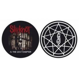 Lot de 2 Feutrines Vinyles SLIPKNOT - The Gray Chapter