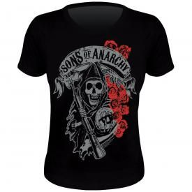 Tee Shirt Femme SONS OF ANARCHY - Roses