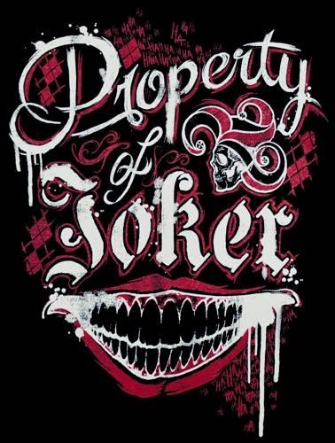 Suicide Squad Property of Joker Top Femme Noir