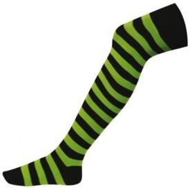Chaussettes Longues MACAHEL - Green Lime Stripes