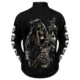 Sweat Zippé Mec DARK WEAR - Death Guitar Glow