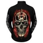 Sweat Zippé Mec DARK WEAR - Tribal Skull Glow