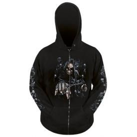 Sweat Zippé Mec DARK WEAR - Rock In Hell Glow