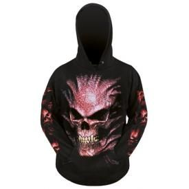 Sweat Spiral DARK WEAR - Goth Skull