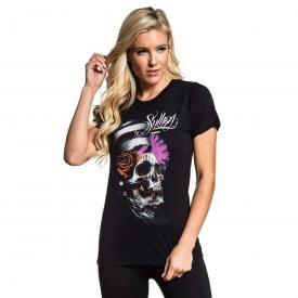 efae706bdd50 Tee Shirt Femme SULLEN - Scroll Skull