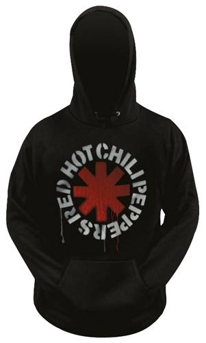 Red Hot Chili Pepper-Stencil Astérisque Hoodie Black Capuche