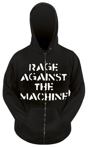 Sweat Zippé Homme RAGE AGAINST THE MACHINE Fist Rock A Gogo