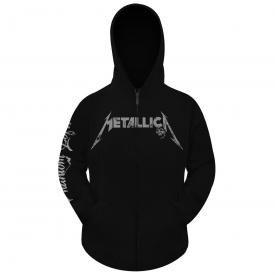 officielle Metallica /à capuche pour homme Fermeture /Éclair//Sweat /à capuche Album brunie noir Toutes les tailles