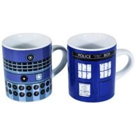 Lot de 2 Mini Tasses DOCTOR WHO - Tardis and Dalek