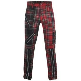 Pantalon Mixte TIGER OF LONDON - Red & Black Tartan