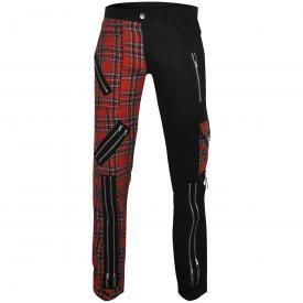 Pantalon Mixte TIGER OF LONDON - Black & Red Tartan 2