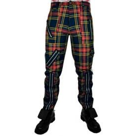Pantalon Mixte TIGER OF LONDON - Tartan Bleu Jaune Rouge