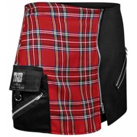 Jupe TIGER OF LONDON - Tol Tartan Rouge & Noir