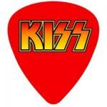Sticker KISS - Guitar Pick