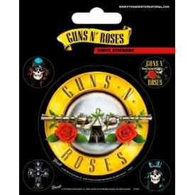 Pack de 5 Stickers GUNS N ROSES - Bullet Logo