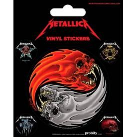 Pack de 5 Stickers METALLICA - Ying Yang