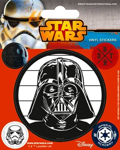 Pack de 5 stickers star wars imperial stickers rock for Autocollant mural star wars