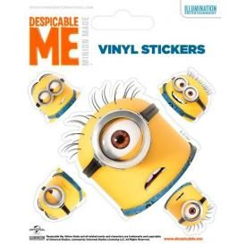 Pack de 5 Stickers MINIONS - Heads
