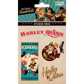 Pack de 12 Stickers DC COMICS - Harley Quinn