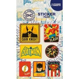 Pack de 12 Stickers DC COMICS - Retro