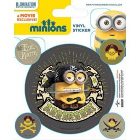 Pack de 5 Stickers MINIONS - Pirates