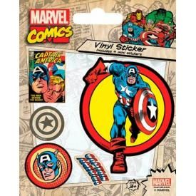 Pack de 5 Stickers CAPTAIN AMERICA - Retro