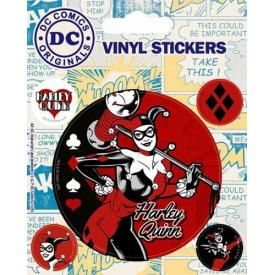 Pack de 5 Stickers DC COMICS - Harley Quinn