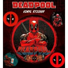 Pack de 5 Stickers DEADPOOL - Comics