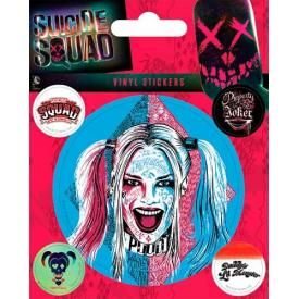 Pack de 5 Stickers SUICIDE SQUAD - Harley Quinn