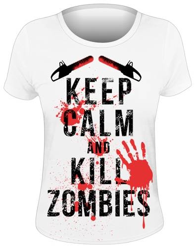 43aa3a74dcd80 ... Tee Shirt Femme DIVERS Keep Calm   Kill Zombies Rock A Gogo