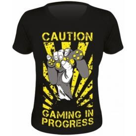 Tee Shirt Femme DIVERS - Caution Gaming In Progress