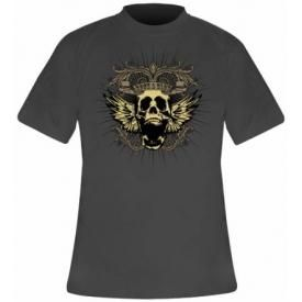 T-Shirt Mec ROCKABLOK - New Skull Grey