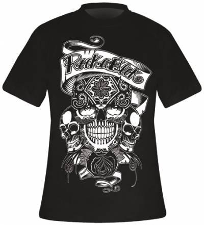 t shirt mec rockablok mexican skull t shirts rock a gogo. Black Bedroom Furniture Sets. Home Design Ideas