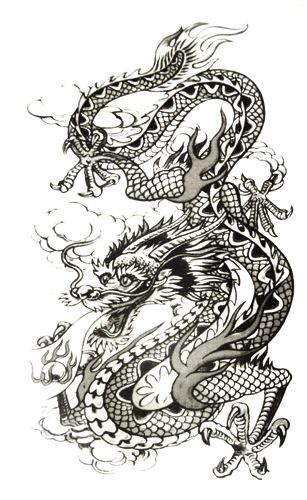 pochette de tatouage temporaire cloud dragon tatouages temporaires rock a gogo. Black Bedroom Furniture Sets. Home Design Ideas