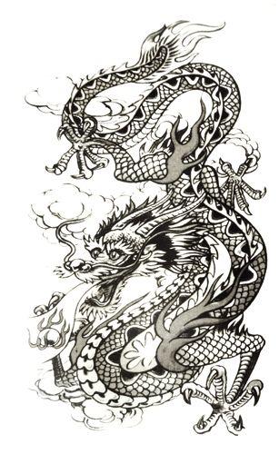 pin dragon rockagogo com tatouages temporaires asiatique tattoo wallpaper on pinterest. Black Bedroom Furniture Sets. Home Design Ideas