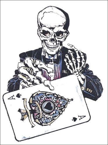 Pochette De Tatouage Temporaire Skeleton Ace Rock A Gogo