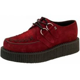 Chaussures TUK - Creepers Viva Low Burgundy Suede
