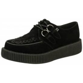 Chaussures TUK - Creepers Viva Low Black Suede