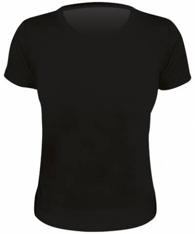 tee shirt femme gildan gn641 noir t shirts rock a gogo. Black Bedroom Furniture Sets. Home Design Ideas