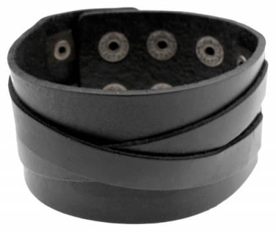 Image de Bracelet de Force CUIR - Bandes Croisées