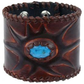 Bracelet CUIR - Pierre Turquoise