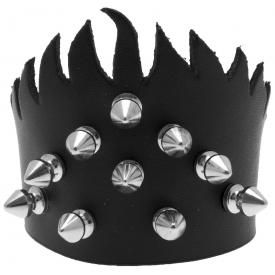 Bracelet CUIR - Flamming Spikes