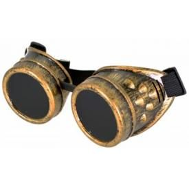 Lunettes STEAMPUNK - Old Gold