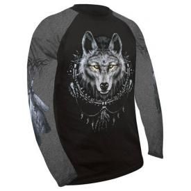 T-Shirt Mec Manches Longues Spiral DARK WEAR - Wolf Dreams