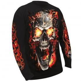 T-Shirt Manches Longues Homme SPIRAL - Skull Blast