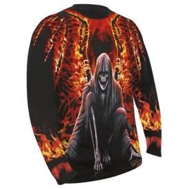 T-Shirt Manches Longues Homme SPIRAL - Flaming Death